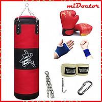 Vỏ Bao Cát Đấm Bốc 3 Lớp Cao Cấp – Vỏ Bao Cát Boxing Chính Hãng miDoctor, Trụ Đấm Bốc Treo