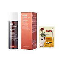 Dung Dịch Tẩy Tế Bào Chết By Wishtrend Mandelic Acid 5% Skin Prep Water 120ml + tặng Kèm 1 Mặt Nạ Mắt Mediheal