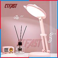 Đèn Học Để Bàn, Đèn Học Sinh Chống Cận Thị, Chống Lóa Hình Mèo CTFAST CT-C17 : Đèn Thông Minh Bảo Vệ Mắt, Gấp Gọn, Đèn LED Cảm Ứng, Tích Điện Sạc USB Pin 2400 mAh