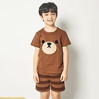 Bộ đồ ngắn tay mặc nhà cotton mịn cho bé trai U3007 - Unifriend Hàn Quốc, Cotton Organic