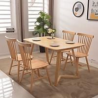 Bộ bàn ăn gỗ sồi 4 ghế thanh lịch DI-331A