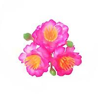 Bộ 20 chùm hoa đào hồng (1 chùm gồm 3 bông + 3 nụ)