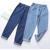 Quần Baggy Jeans Nữ Trơn 285