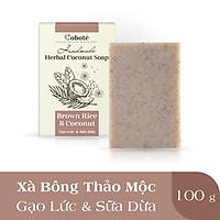 Xà Phòng Thảo Mộc Coboté - Gạo Lứt & Sữa Dừa- Dưỡng Ẩm Mượt Mỗi Ngày - 100% Tự Nhiên