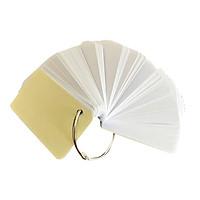 1000 thẻ flashcard trắng cao cấp 5x8cm bo góc tặng kèm 10 khoen inox +bìa cứng dày học ngoại ngữ(bìa giao màu ngẫu nhiên)