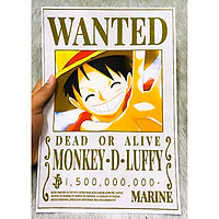 Poster One Piece Ace Mới Nhất, Poster Lệnh Truy Nã Portgas D. Ace (Hình dán tường tiện lợi, Chất lượng Full HD)