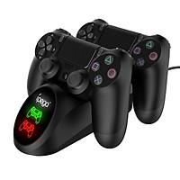 Đế sạc đôi cho tay cầm PS4 4Slim/ Pro - led báo sạc - iPega PG-9180 (Hàng nhập khẩu)