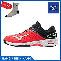 Giày tennis Mizuno Wave Exceed Tour 4AC  61GA207062 hàng chính hãng, màu đỏ, chống lật cổ chân - Tặng kèm tất thể thao Bendu