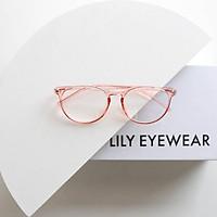 Gọng kính mắt tròn trong suốt Lilyeyewear Nam Nữ nhựa dẻo màu sắc Thời trang C0003