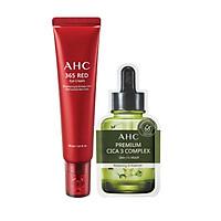 Kem Mắt Chống Lão Hóa AHC 365 Red Eye Cream 30ml -  Tặng Mặt Nạ Thư Giãn, Phục Hồi Da AHC Premium CICA 3 Complex (2 Miếng)