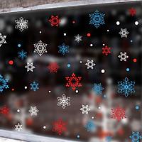 Snowflower Pattern Static Window Sticker Kids Room Christmas Decorations