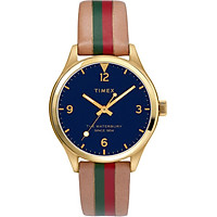 Đồng hồ Nữ Dây Da Timex Waterbury Traditional 34mm Leather Strap Watch - TW2T26300