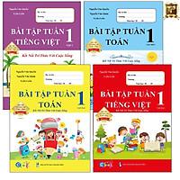 Sách - Combo Bài Tập Tuần Lớp 1 Cả Năm - Toán và Tiếng Việt - Kết Nối (4 cuốn)