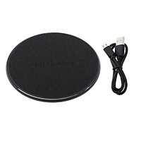 Aluminum Alloy Ultra-thin Fast Wireless Charger Charging Pad Temperature Control Overcurrent Protection