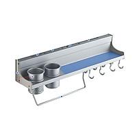 Kệ đựng gia vị, đồ dùng nhà bếp gắn tường có giá để dao, đũa , móc treo đồ GS00386