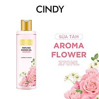 Sữa tắm nước hoa dưỡng ẩm sáng da Cindy Bloom Aroma Flower mùi hương ngọt ngào nữ tính 270g