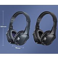 Tai Nghe chụp tai Game thủ Remax Rb-750Hb không dây, kết Nối Bluetooth 5.0 Chống Nước Cho Điện Thoại / Máy Tính-hỗ trợ thẻ nhớ-Hàng Chính Hãng