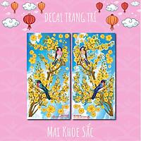Mai Khoe Sắc - Bộ 2 tấm 40x80cm decal trang trí tết