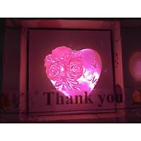Xà bông trong suốt trái tim hoa hồng  - 35 gam