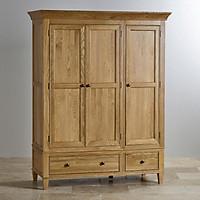 Tủ quần áo Juno Sofa 3 cánh 2 ngăn kéo gỗ sồi 1m4