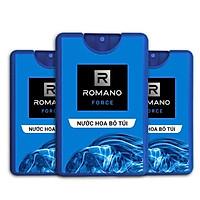 Combo 3 chai nước hoa bỏ túi Romano Force (18ml *3)