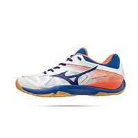 Giày bóng chuyền, giày cầu lông chuyên dụng Mizuno Wave Smash 71GA196027 mẫu mới dành cho nam màu trắng phối cam đủ size