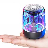 Loa Nghe Nhạc Bluetooth 5.0 Trong Suốt Có Đèn Led Đổi Màu Hỗ Trợ Thẻ Nhớ Yayusi C7 - Hàng Nhập Khẩu