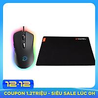 Combo chuột gaming DareU EM908 + pad chuột DareU ESP100 - Hàng chính hãng