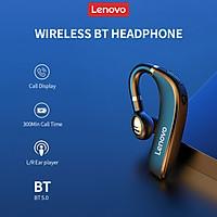 Lenovo HX106 Wireless BT Headphone Single Ear Headset HiFi Sound Quality HD Call Noise Reduction Earphone for Meeting