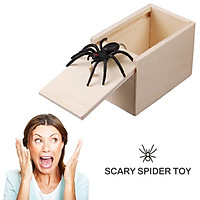 April Fool's Day gift Wooden Prank Trick Practical Joke Home Office Scare Toy
