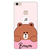 Ốp lưng dành cho điện thoại Vivo V7 - V7 PLUS - Y83 - Gấu Brown