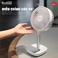 Quạt sạc mini để bàn YOOBAO F1 10000mAh 4 chế độ gió Góc xoay 45 độ An toàn cho trẻ- Bảo hành 12 tháng