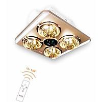 Đèn sưởi nhà tắm âm trần có điều khiển từ xa ASIA - 4 bóng (Model: DS4AT01)