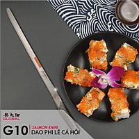 Dao bếp Nhật cao cấp Global G10 Salmon Knife - Dao phi lê cá hồi (310mm)- Dao bếp Nhật chính hãng