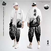 Set đồ Haori nam Kimono Yunhe Jiuxiao  phong cách Nhật Bản siêu chất BSK02