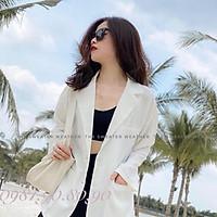 Áo blazer nữ dáng suông rộng chất vải cao cấp kiểu akasi hàn quốc