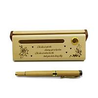 Bộ bút gỗ cao cấp tặng người yêu - mẫu 01 (Kèm hộp đựng sang trọng)