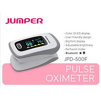 MÁY ĐO NỒNG ĐỘ OXY BÃO HÒA TRONG MÁU SPO2, PR, PI JUMPER JPD-500F Kết nối bluletooth với điện  thoại, màn hình OLED  ( FDA hoa kỳ chứng nhận )