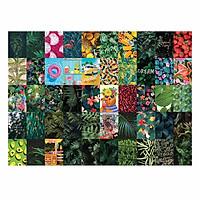 TROPICAL - Set 50 tấm 22x30cm decal dán tường trang trí decor quán nhà cửa chủ đề Nhiệt đới