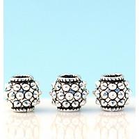 Combo 4 cái charm bạc hình trụ tròn - Ngọc Qúy Gemstones