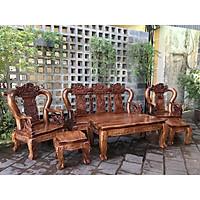 Bộ bàn ghế salon gỗ Lim Đen Tựa Tứ Linh Đỉnh Nghê
