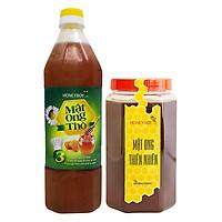Combo Thực Phẩm Chức Năng Mật Ong Thiên Nhiên Honeyboy (1kg) Và Mật Ong Thô Honeyboy (1L)