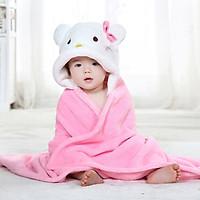 Chăn ủ có mũ hình thú cho bé mặt lông mềm mượt giữ bé ấp áp cho bé thu đông