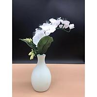 Bình hoa đèn led sợi quang đổi màu - bình hoa trang trí - bình hoa lan trắng cắm điện 220V - BH197O