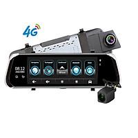 Camera hành trình gương Phisung cao cấp E08-E 4G Wifi GPS - Hàng nhập khẩu