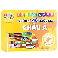 Bộ Thẻ Học Flash Card Chủ Đề Quốc Kỳ Các Quốc Gia Châu Á Bộ 48 Thẻ Cho Trẻ Thông Minh, Tư Duy, Ghi Nhớ