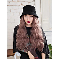 [ HÀNG HÓT ] Tóc giả nữ, mũ tóc giả , nón tóc giả, tóc giả xoăn sóng, tóc giả Hàn Quốc, mũ tóc giả nữ, mũ tóc giả dài, tóc giả, tóc giả cả đầu, tóc giả tó, tóc giả giống tóc thật, mũ bucket tóc màu hồng khói