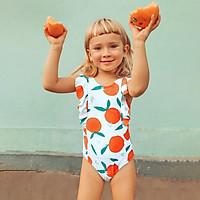 CUPSHE Cam In Cổ Cao Xù 1 Bộ Bơi Cho Bé Gái Tập Đi Cho Bé Áo Tắm Trẻ Em 2021 Trẻ Em Đồ Tắm 2-12 Năm