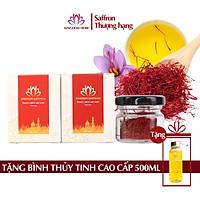 Combo 2 Hộp Nhụy Hoa Nghệ Tây Iran Loại Super Negin Thượng Hạng - Saffron KingDom (Hộp 1 Gram)