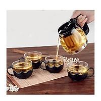 Bộ bình lọc trà thủy tinh kèm 4 cốc